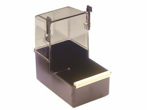 Papegaaibad plastiek bruin 22,5x14,5x23cm
