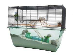 Hamster kooi Habitat blauw/doorz.70x37x56cm XL