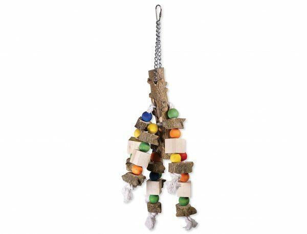 Speelgoed vogel met koord en blokken 50cm