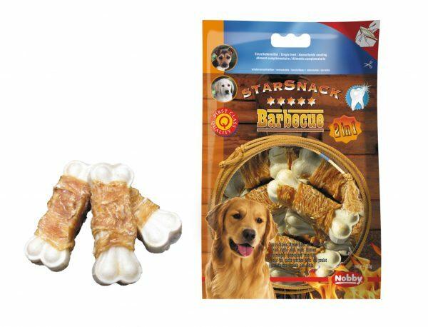 Snack hond kip been omwikkeld 113gr