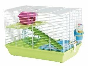 Hamsterkooi Martha Triple wit/groen 47x30x34cm