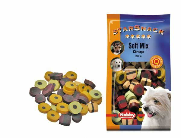 Snack hond soft mix drop 200gr