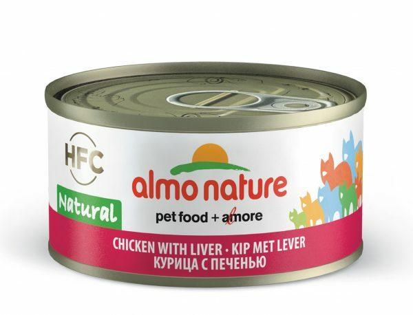 HFC Cats 70g Natural - kip met lever