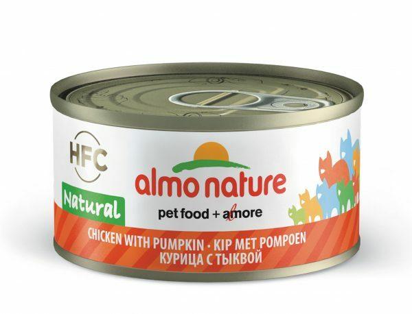 HFC Cats 70g Natural - kip met pompoen