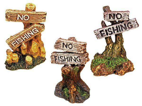 "Aqua Deco NO FISHING"" ASS 55x45x75mm"