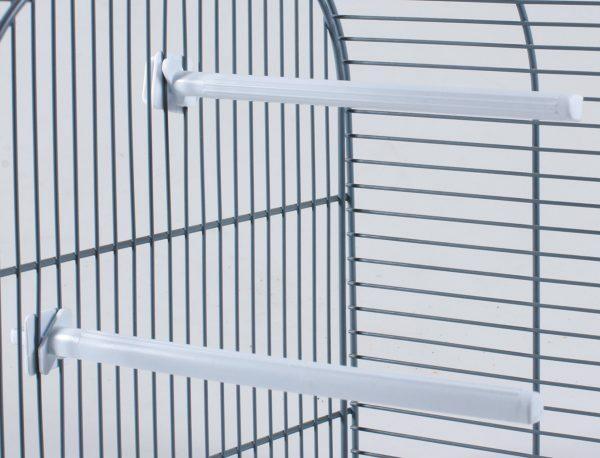 Zitstok vogel plastic wit 17cm(50)
