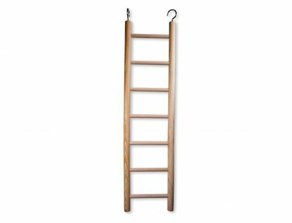 Speelgoed vogel hout ladder 7 sporten 75x19 cm