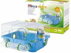 Kooi hamster Billy Metro wit/blauw 42x38x23cm