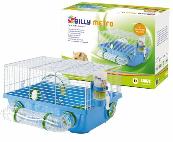 Kooi hamster Billy Metro blauw 42,5x38x23cm