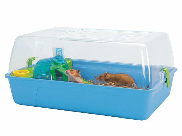 Hamster kooi Rody doorzcht/blauw 55x39x26cm M