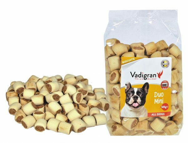 Snack hond Biscuits Duo Mini 500g