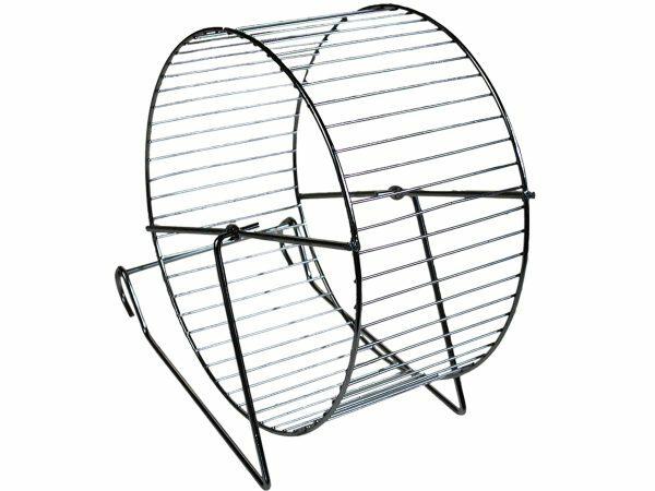 Hamster wiel metaal/chroom 20cm
