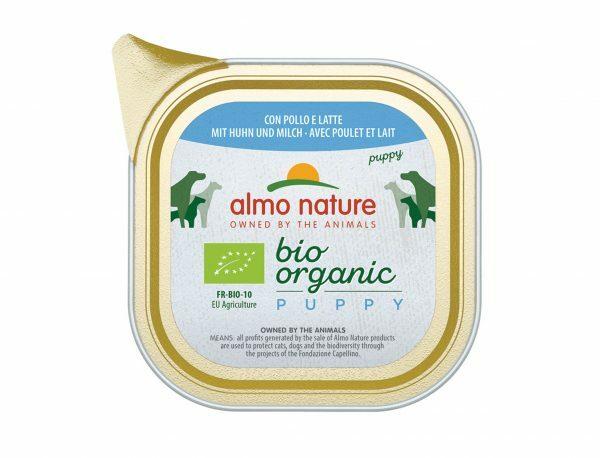 BIO Organic Puppy 100g met kip en melk