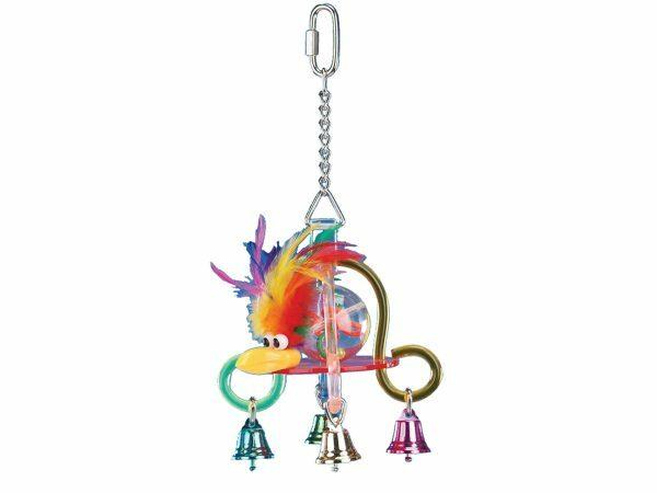 Plexi speelgoed + met bellen veelkleurig 15 cm