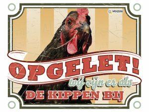Waakbord foto S kip vintage 3 NL