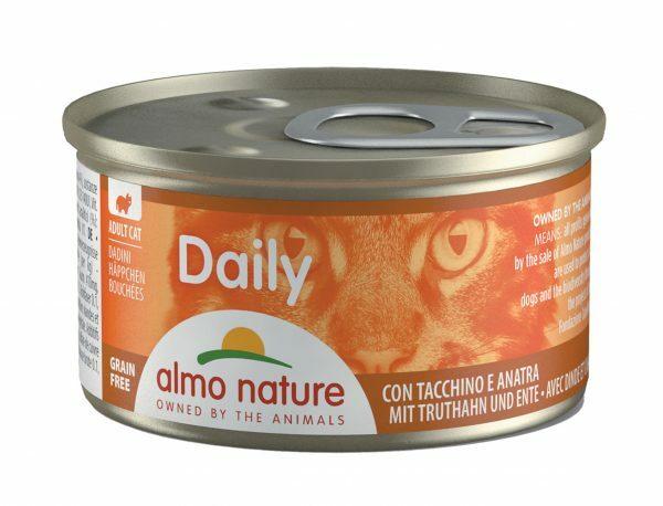 Daily Cats 85g Brokjes kalkoen en eend
