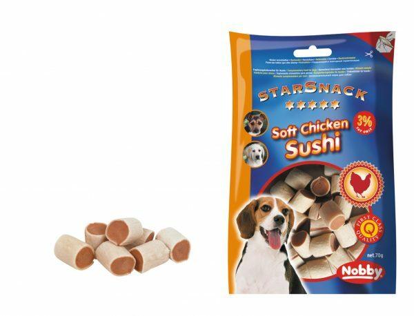 Snack hond soft kip sushi 70gr