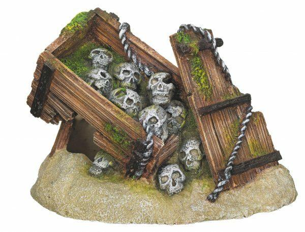 Aqua Deco Kist met schedels 165x118x110mm