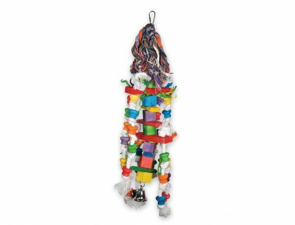 Speelgoed vogel hout Fun blokjes multikleur 55cm