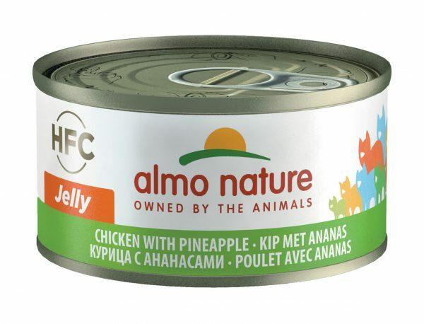 HFC Cats 70g Jelly - kip met ananas