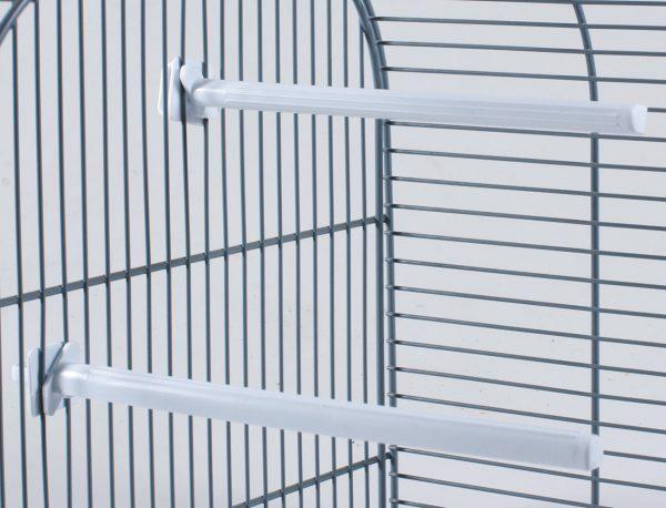 Zitstok vogel plastic wit 20cm(50)