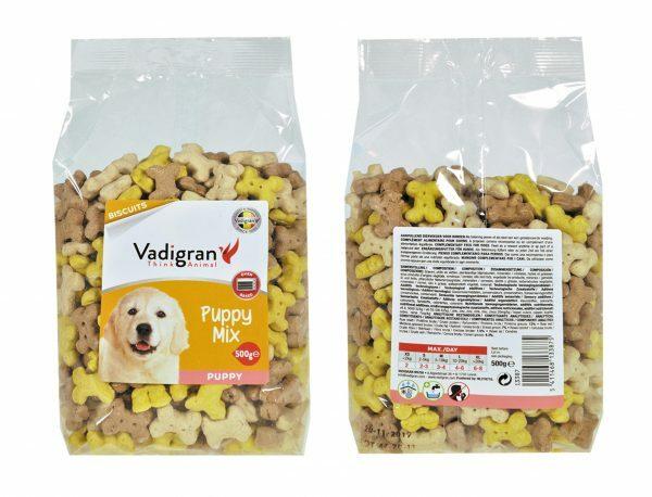 Snack hond Biscuits Puppy Mix 500g