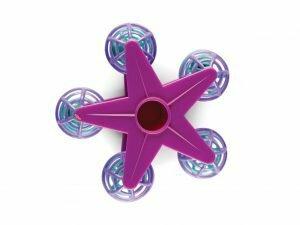 Speelgoed vogel Draaiende ster paars 12cm