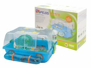 Hamster kooi Spelos doorzt/blauw 42,5 x38x24cm