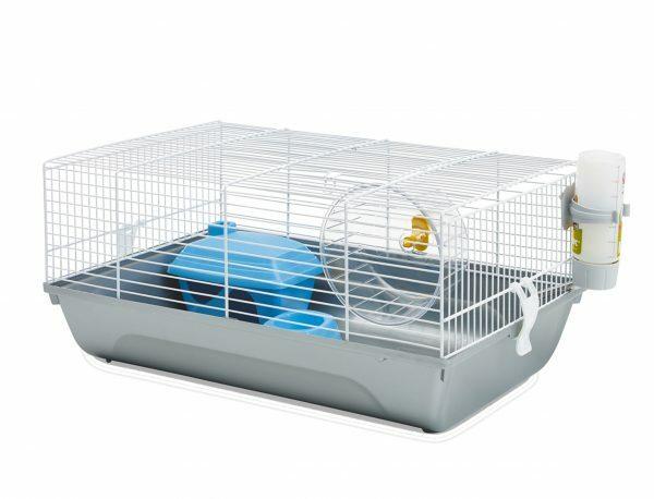 Hamsterkooi Martha wit/Ass. 46,5x29,5x21cm
