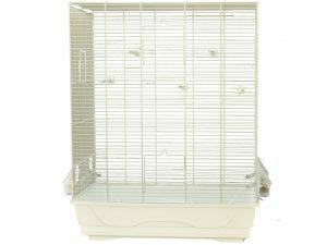 Kooi kleine vogel Ambra wit/wit 56,5x36,5x74cm