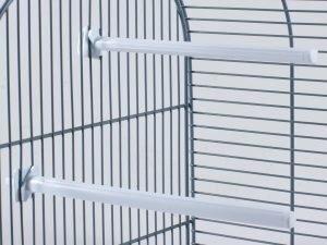 Zitstok vogel plastic wit 20,5cm(2)