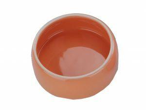 Eetpot knaagdier aardewerk oranje Ø 12cm