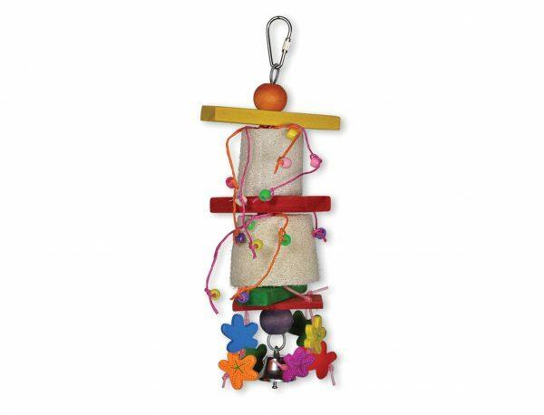 Speelgoed vogel Barrels multikleur 27cm