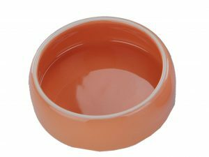 Eetpot knaagdier aardewerk oranje Ø14,5cm