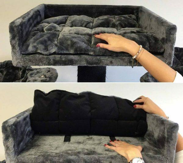 Ligbak Lounge + Kussen Dark Grey