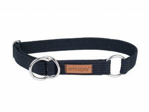 Ami Halsband Cotton Half-check zw. 32-50cmx25mm L