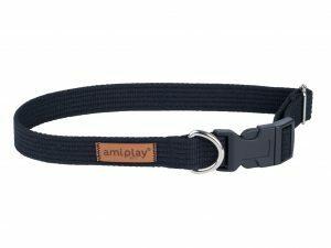 Ami Halsband Cotton aanpasb. zwart 45-70cmx30mm XL