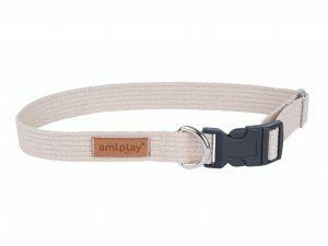 Ami Halsband Cotton aanpasb. beige 35-50cmx20mm M