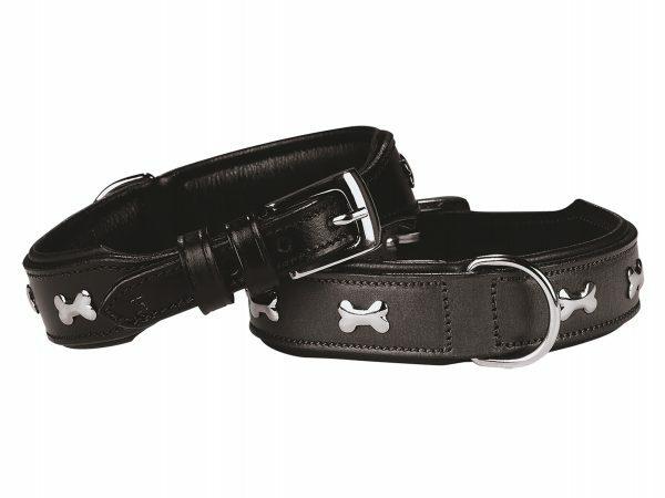 Halsband cerro Leder zwart 45 cm x 30 mm