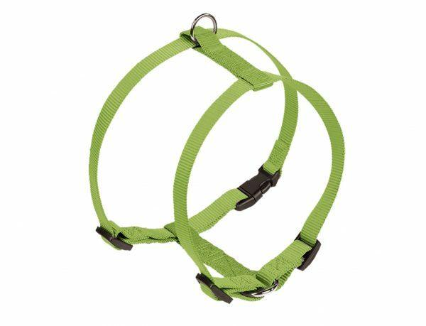 Harnas hond nylon Classic groen 10mmx25-35cm