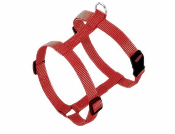 Harnas hond nylon Classic rood 15mmx30-50cm