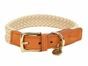 Halsband hond Tau lichtbruin 55cmx25mm XL