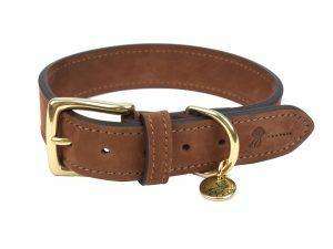 Halsband hond Nubu donkerbruin 55cmx30mm XL