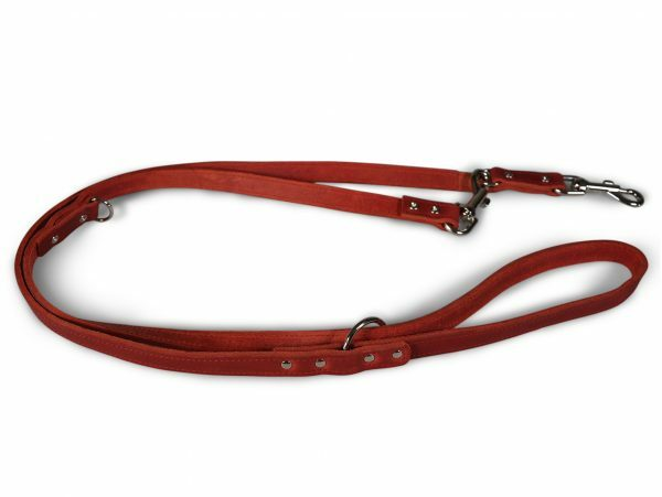 Politie Leiband geolied leder rood 200cmx18mm M-L