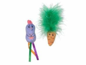 Speelgoed kat set konijntje en wortel (2)
