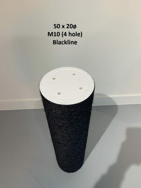 Sisalpaal 50x20Ø M10 BLACKLINE (4 gaten)