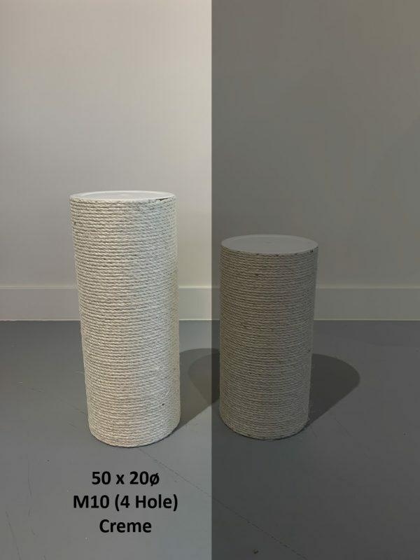 Krabpaal onderdelen Sisalpaal 50x20 M10 - (4 schroefgaten)
