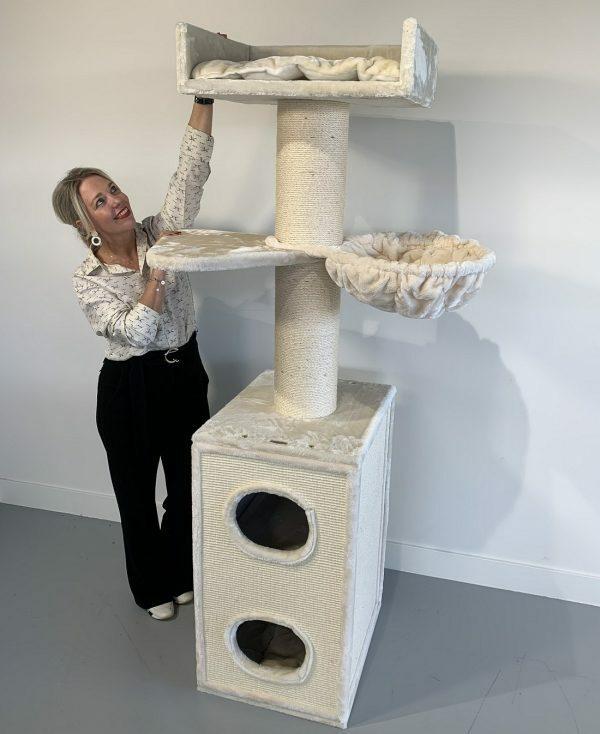 Krabpaal Maine Coon Tower Box Comfort Creme