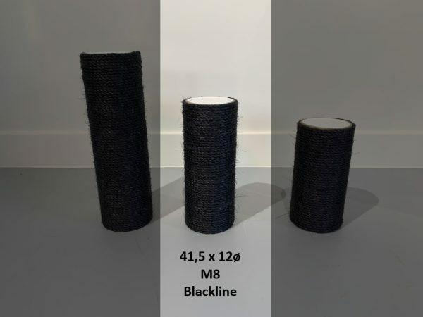 Sisalpaal 41,5x12Ø M8 BLACKLINE