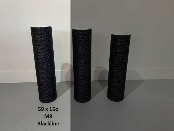 Sisalpaal 59x15Ø M8  BLACKLINE
